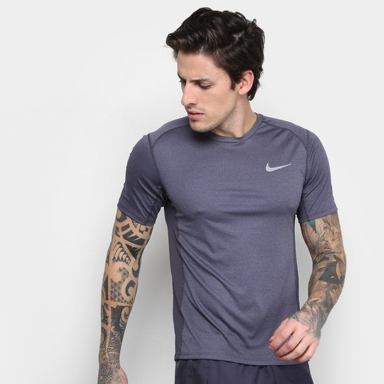 7828216d8672e Camiseta Nike Dri-Fit Miler Ss Masculina - Mescla - Compre Agora ...