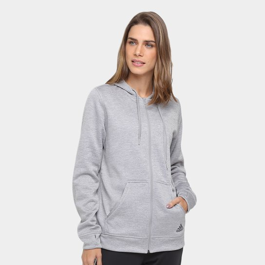 b2c4162f6 Jaqueta Adidas Team Issue Fleece Feminina - Mescla