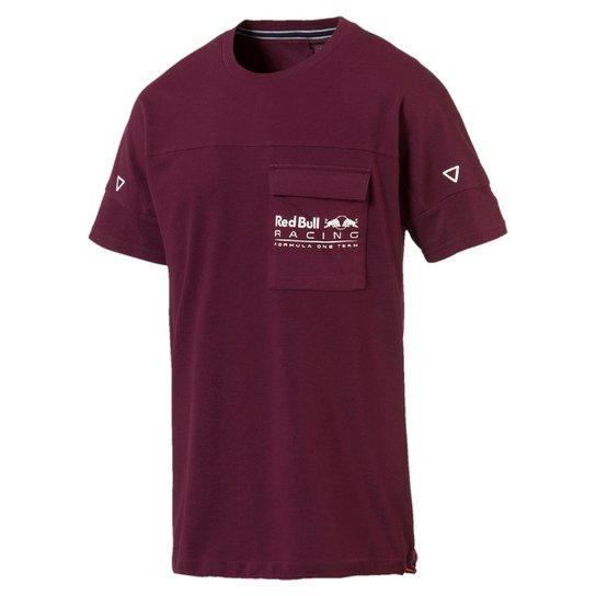 Camiseta Puma Red Bull Racing Life Tee Masculina - Bordô - Compre ... 426295922a3