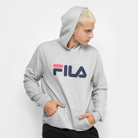 88e454d4e50 Moletom Fila com Logo e Capuz Masculino - Mescla - Compre Agora ...