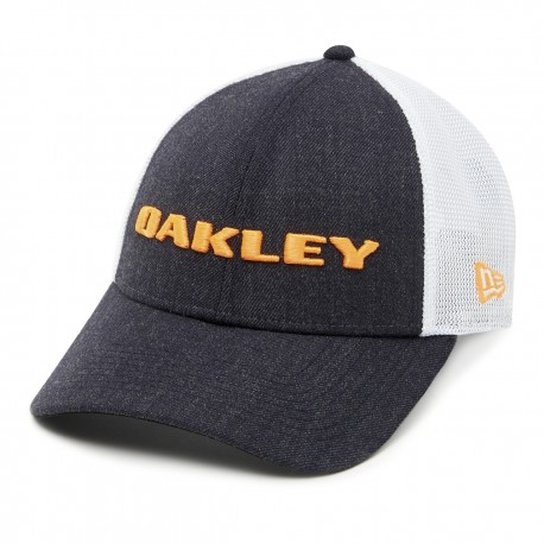 Boné Oakley Heather New Era Hat Masculino - Laranja+Branco 1f386885066