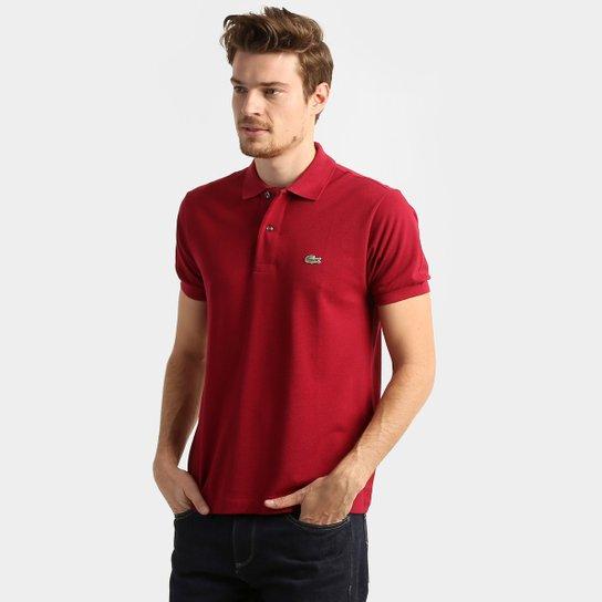 20a6d1a6b7687 Camisa Polo Lacoste Original Fit Masculina - Bordô - Compre Agora ...