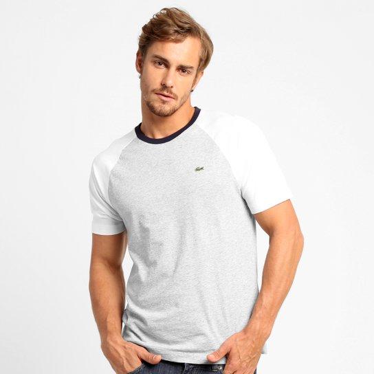 a9156958ec Camiseta Lacoste Regular Fit Raglan - Mescla