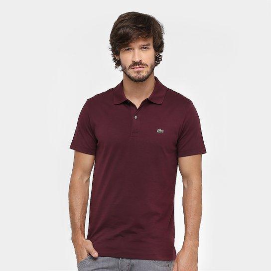 595e73264325a Camisa Polo Lacoste Malha Original Fit Masculina - Bordô - Compre ...