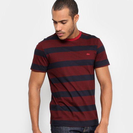 331ad21e207 Camiseta Lacoste Full Print Listras Masculina - Compre Agora