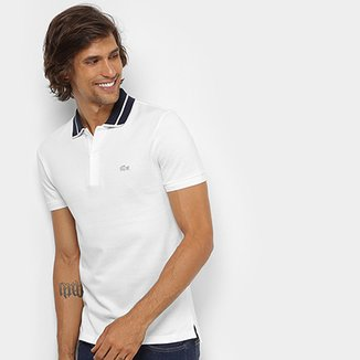 6f29bc06f85 Camisa Polo Lacoste Piquet Slim Fit Fancy Contraste Masculina