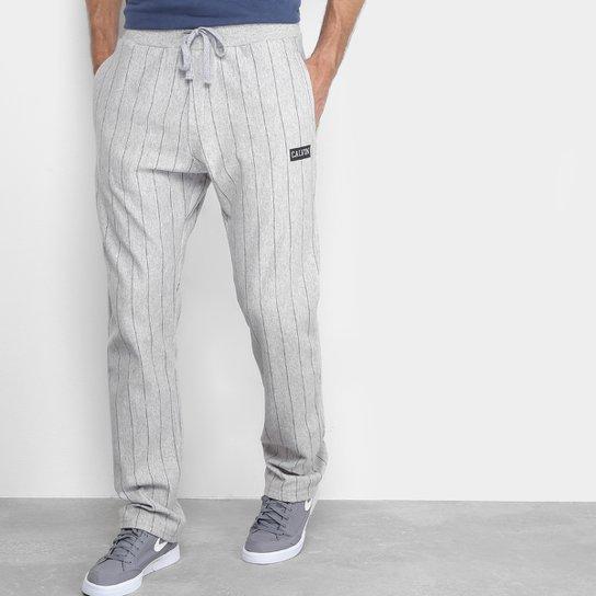 Calça De Moletom Calvin Klein Listras Masculino - Compre Agora   Zattini 2a70084b70
