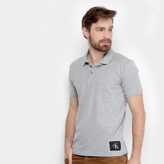 1a51f6e315 Camisa Polo Calvin Klein Piquet Etiqueta Patch Masculina - Compre ...
