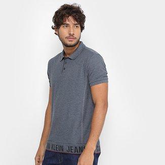 Camisa Polo Calvin Klein Piquet Barrado Masculina b52f83af0e86c