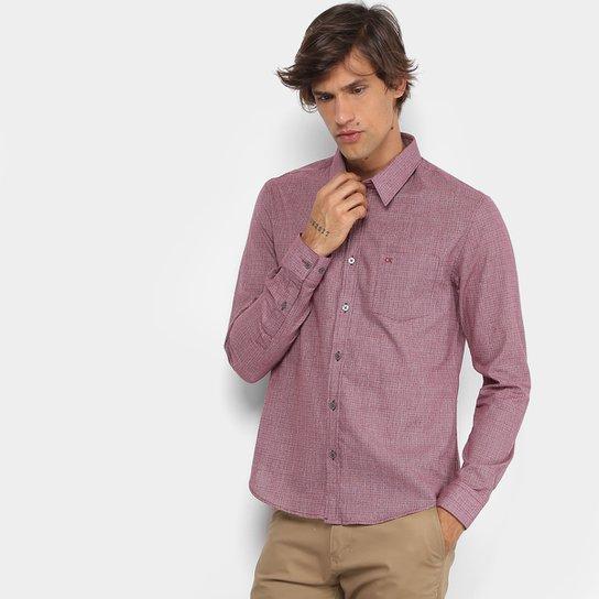 a26d19c5a6 Camisa Xadrez Calvin Klein Slim Mini Masculina - Bordô - Compre ...