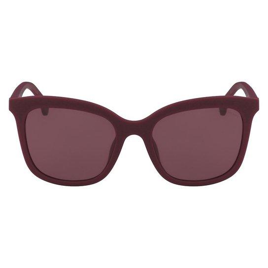 6411e60b1b522 Óculos de Sol Calvin Klein Jeans CKJ819S 627 54 - Bordô - Compre ...