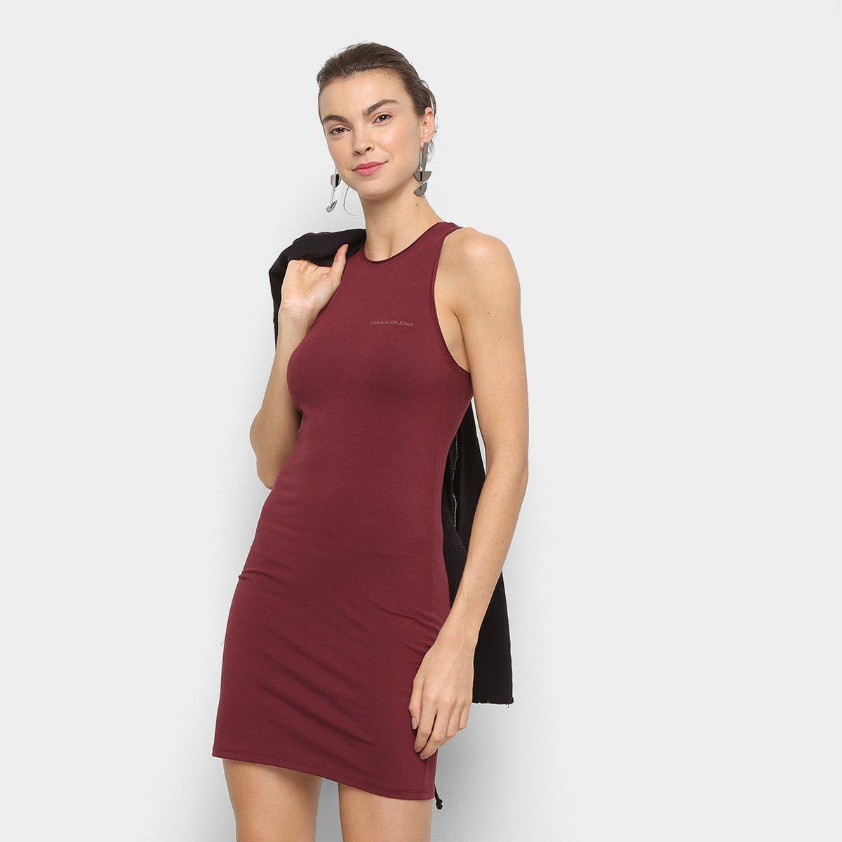 Vestido Calvin Klein Regata Curto