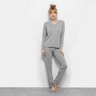 24707605c Pijama Lupo Básico Longo Feminino
