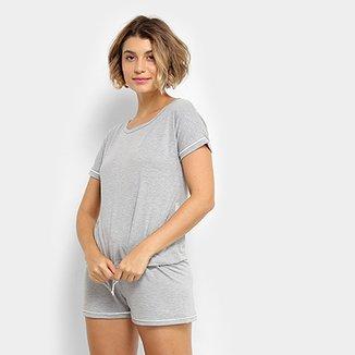c816264b6 Pijama Curto Lupo Short Doll Viscose Feminino