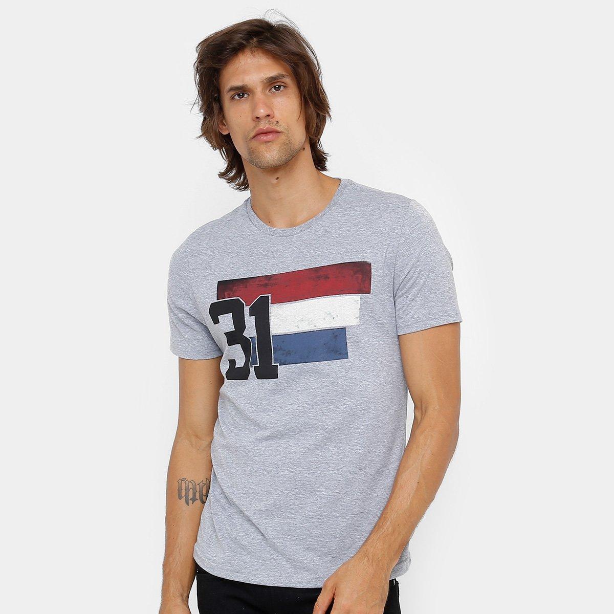 Camiseta Burn Estampa França Masculina