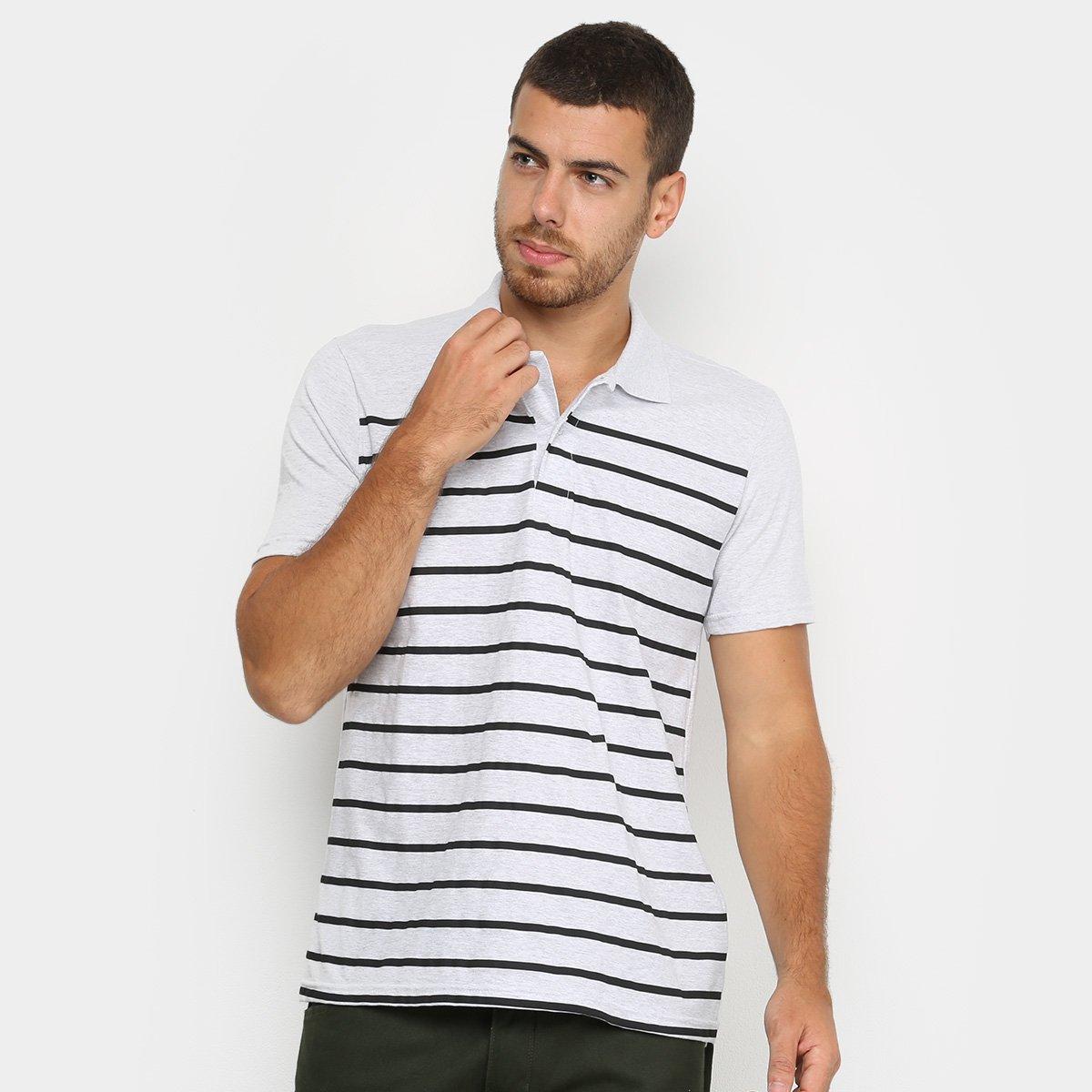 Camisa Polo Burn Listrada Masculina