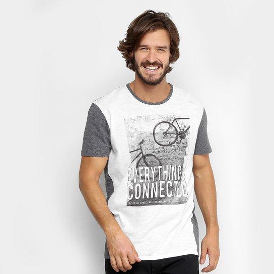 725ebf3abb Camiseta Triton Gola Careca Flame Recorte Masculina - Mescla
