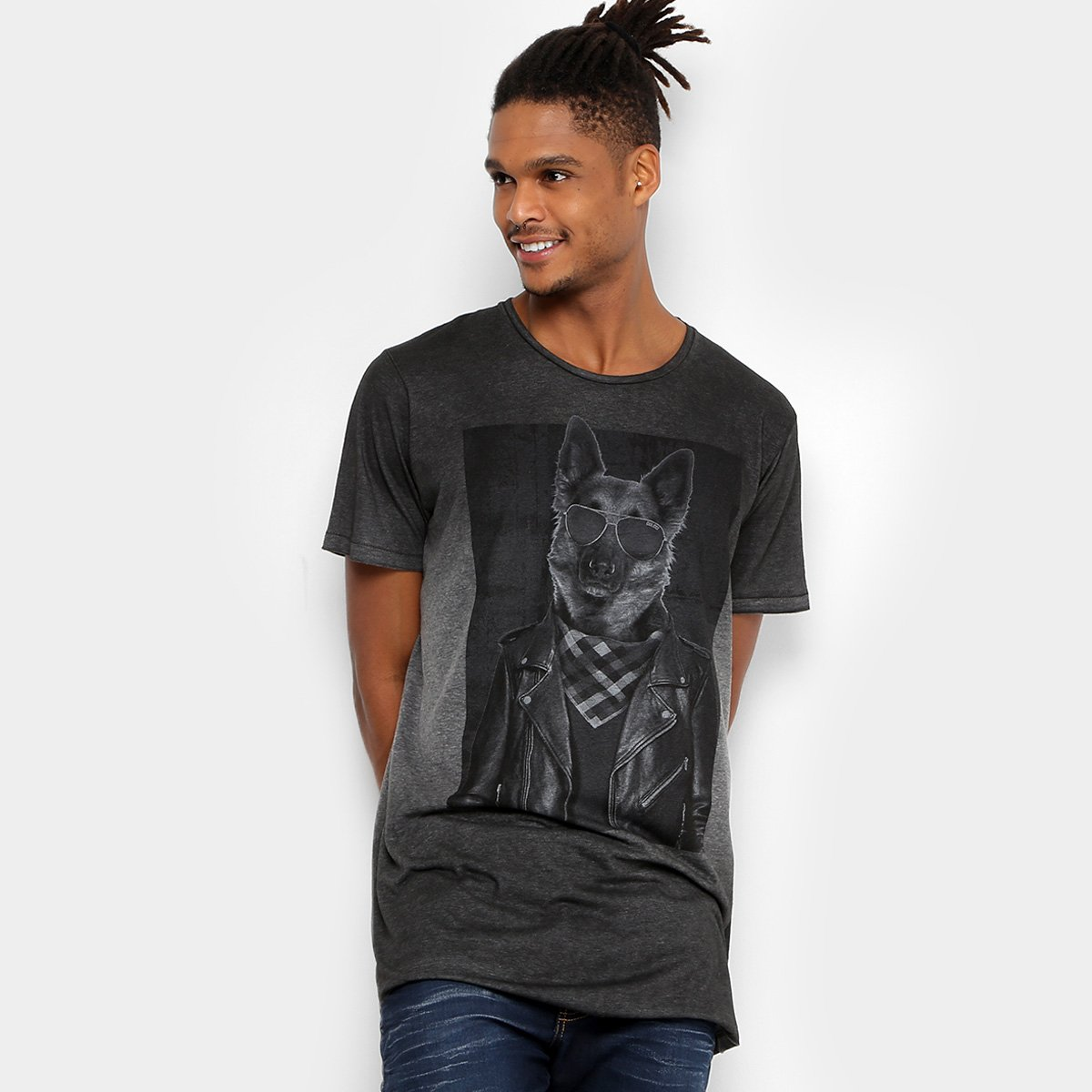 cad5086643a54 48%OFF Camiseta Colcci Oversized Estampada Masculina