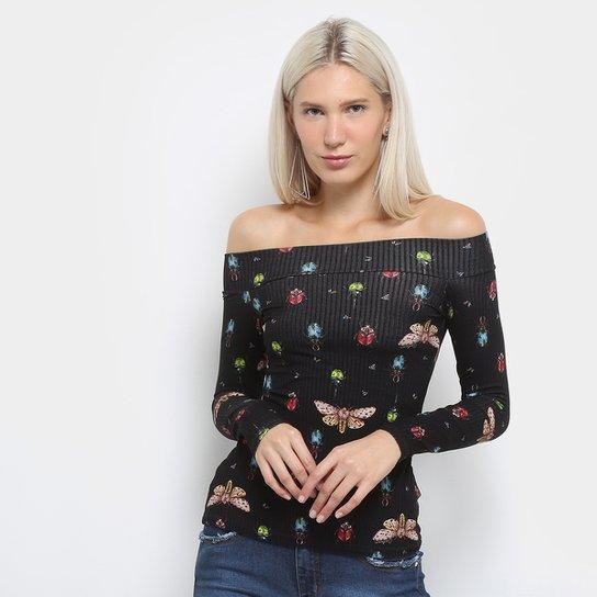 d65ea12cf Blusa Colcci Estampada Ombro A Ombro Feminina | Zattini