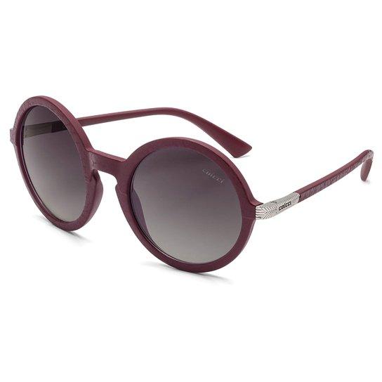 bc8066204fd60 Óculos de Sol Colcci Janis Couro Feminino - Bordô - Compre Agora ...