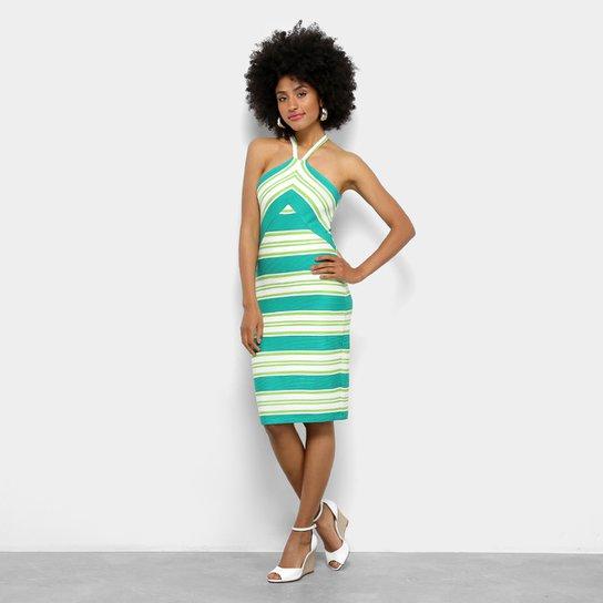 f66b8b24a Vestido Canelado Colcci Listrado Feminino - Colorido | Zattini