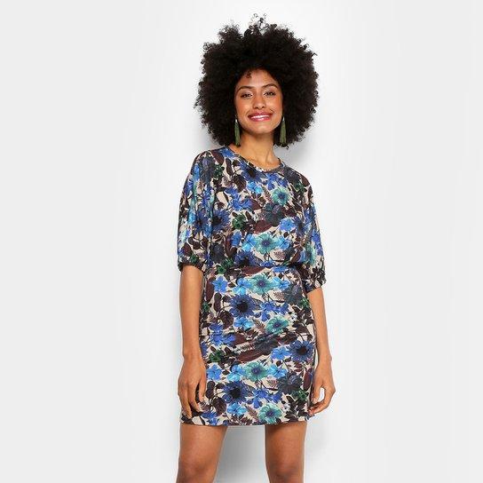e45cf76e09 Vestido Colcci Evasê Curto Estampado - Azul - Compre Agora
