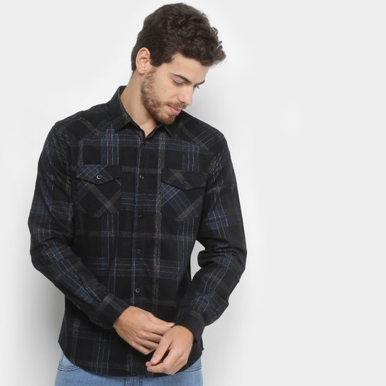 Camisa Xadrez Forum Veludo Smart Masculina - Compre Agora  e94c073994ac8