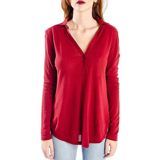 Camisa Manga Longa Cantão Sempre - Bordô - Compre Agora  4a4e784ffe7c5