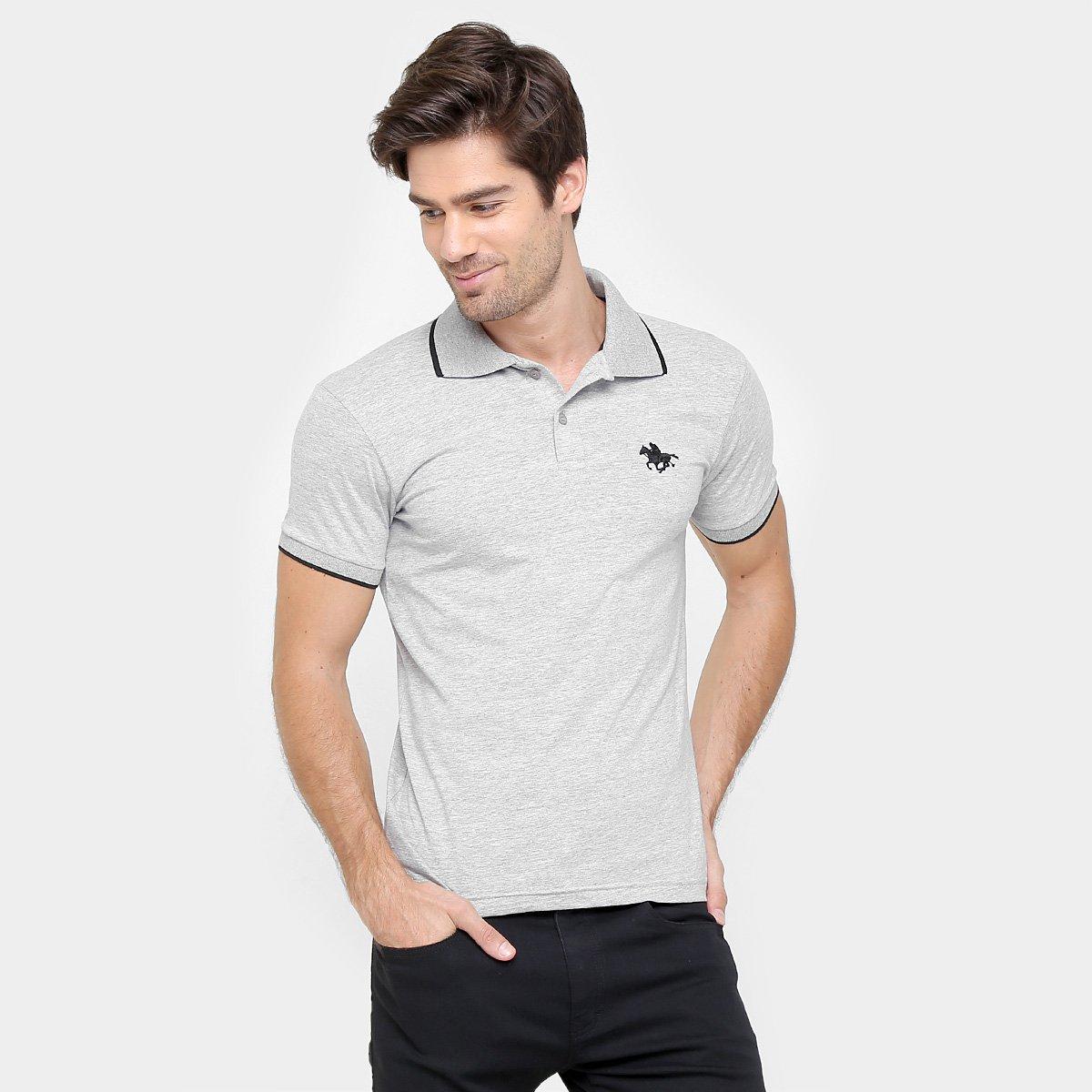 Camisa Polo RG 518 Malha Friso Logo Masculina 148b1bfc91dde