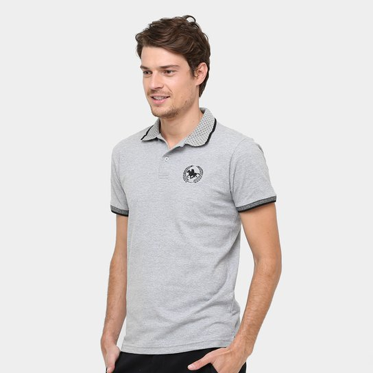 Camisa Polo Rg 518 Gola Poá Masculina - Mescla - Compre Agora  b487bf59ab731