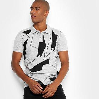Camisa Polo RG 518 Piquet Bicolor Full Print Masculina e878692208