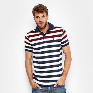 Camisa Polo Aleatory Malha Fio Tinto Masculina e295b540d68