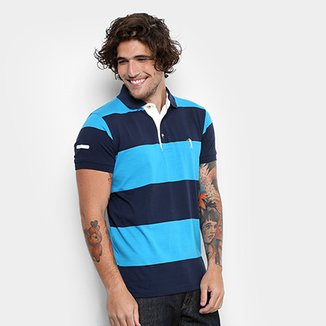 9de689354ce98 Camisa Polo Aleatory Malha Fio Tinto Masculina