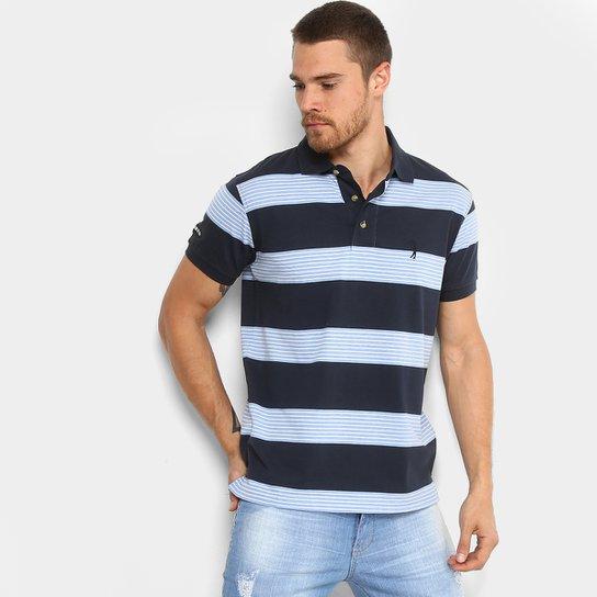 39f8eee757 Camisa Polo Listrada Aleatory Manga Curta Masculina - Compre Agora ...