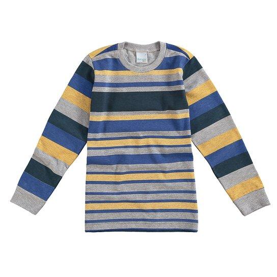 Camiseta Manga Longa Infantil Malwee Listrada Masculino - Compre ... 43a0cbf461