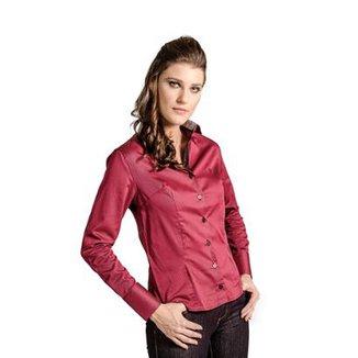 89a03f4f6 Camisa Slim Listrada Carlos Brusman Feminina