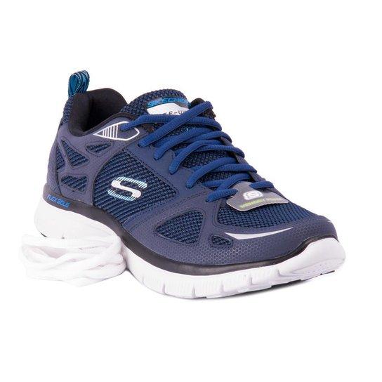 Tênis Skechers Running First Team - Marinho e Azul - Compre Agora ... a6f9f2e2ba396