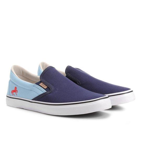 9262b21b719 Slip On Polo Royal Iate Lona Masculino - Marinho e Azul - Compre ...