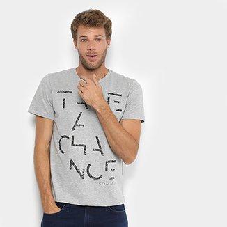b8fdc019a Camiseta Manga Curta Sommer Estampada Take a Chance Masculina