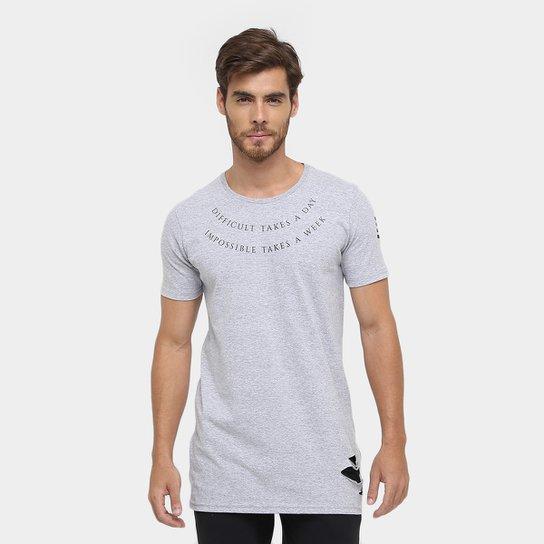 83d7d608c Camiseta Local Long Rasgos Zíper   Zattini