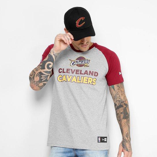 f2e5065bb65 Camiseta NBA Cleveland Cavaliers New Era City Logo Masculina - Mescla