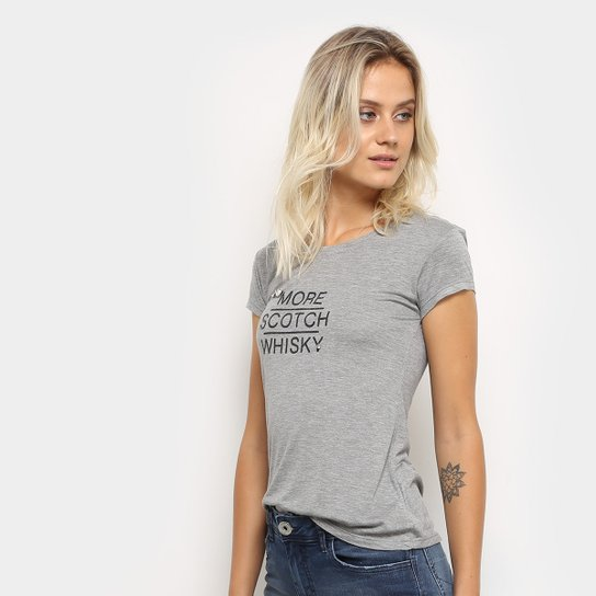40263a50bfabe Camiseta Lez a Lez Manga Curta Silk Pedra Feminina - Mescla - Compre ...