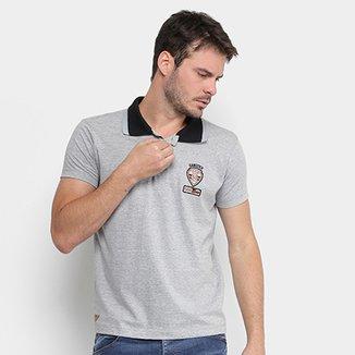 70a87c2596 ... Jet Frontal Estampada Masculina · Confira · Camisa Polo Gangster Malha  Bordado Gola Friso Masculina