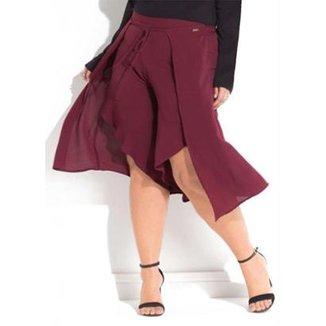 c7b5fca66 Calça Beline Plus Size Pantalona Pareô Quintess