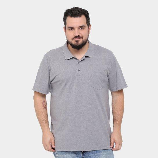 Camisa Polo Kohmar Piquet Plus Size Masculina - Mescla - Compre ... a2af0ebed5d9f