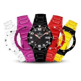 83bb0ab6798 Relógio Unissex Champion Analógico Cp30119x Troca Pulseira Kit