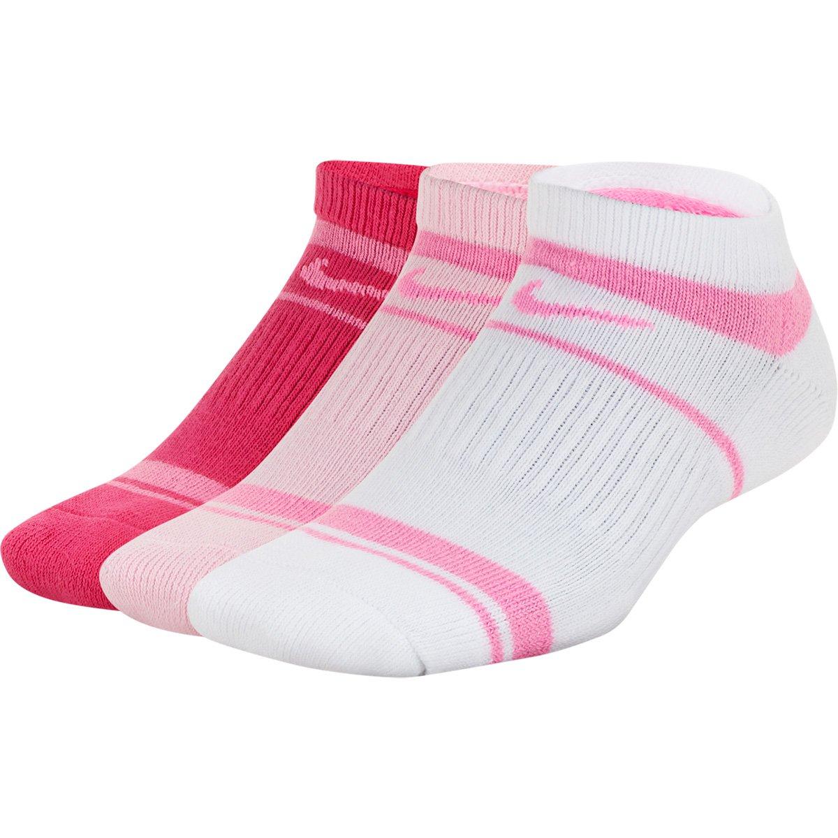 Kit Meia Infantil Nike Cano Curto Everyday Cush NS 3 Pares