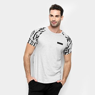 703910549e Camiseta All Free Manga Curta Estampada Masculina