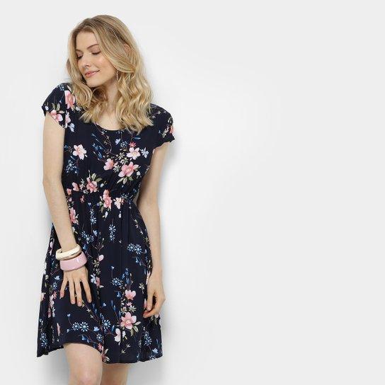 0ea6aa8a3ef Vestido Pérola Evasê Curto Floral - Compre Agora
