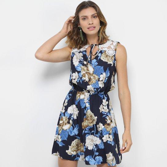 9c495f786e8 Vestido Pérola Evasê Curto com Guipir - Compre Agora